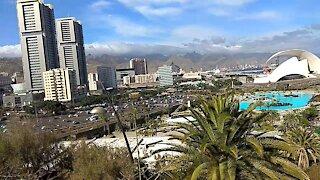 Sight from the botanic garden Santa Cruz Tenerife