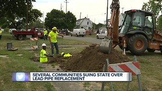 Several communities suing state over lead pipe replacement