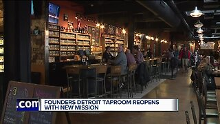 Founders Brewing reopening Detroit taproom today