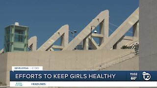 Efforts to keep migrant girls healthy at San Diego Convention Center