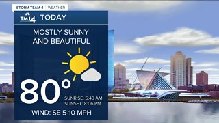 Slightly warmer Thursday; mostly sunny and beautiful