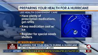 Planning for your health during a hurricane