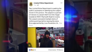 Woman wanted for stealing clothes, toys from Livonia Target