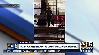 Man arrested after vandalism at Sedona chapel