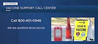 COVID-19 vaccine support call center