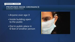 Milwaukee Common Council set to vote on potential mask ordinance Monday