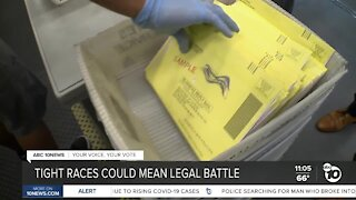 Tight Election Day races could mean legal battles in court