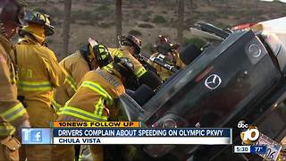 Outrage over 'dangerous' Olympic Pkwy speeding