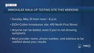 Immokalee Walk Up Test Site opens