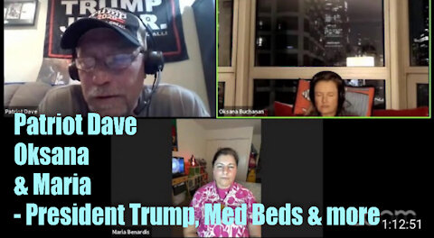 Patriot Dave, Oksana and Maria – President Trump, Med Beds, New Earth and more