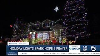 Holiday lights spark hope and prayer