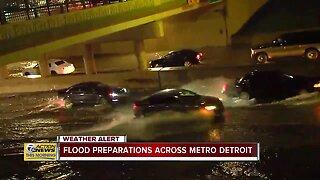 Flood preparations across metro Detroit