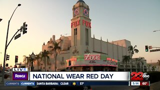 Fox Theater goes red for National Wear Red Day