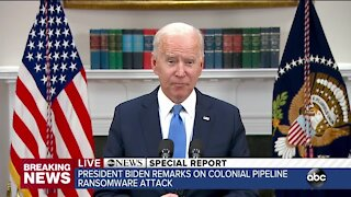 Biden discusses Colonial Pipeline cyberattack in remarks on Thursday