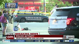 Police activity Desert Inn and McLeod