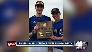 Local baseball player shares struggles after friend's death