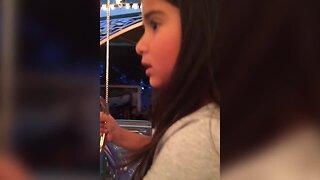 Little Girl doesn't Like the Carousel