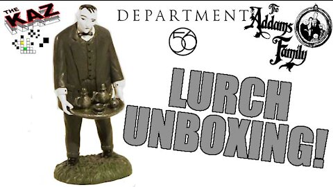 Lurch Figurine from The Addams Family Dept 56 Unboxing