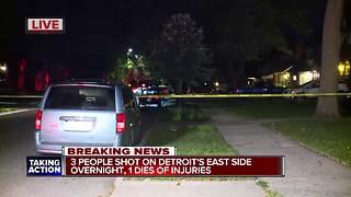 1 dead, 2 injured in shooting on Detroit's east side