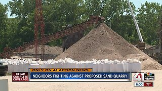 Neighbors fighting against proposed sand quarry