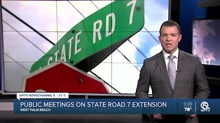 Public workshops scheduled Thursday for State Road 7 extension project