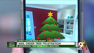Delivery of mail-order Christmas trees delayeds