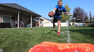 Nampa family creates backyard football field during COVID-19 quarantine
