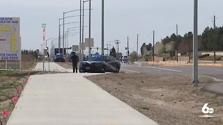 Police close section of Chinden for armed standoff after vehicle chase