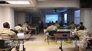 Maryland Guardsmen attend Tactical Combat Casualty Care Course