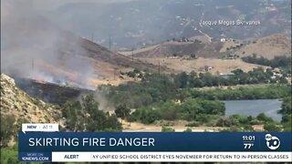 San Diego skirts fire danger