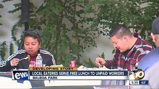 Local eateries serve free lunch to unpaid workers