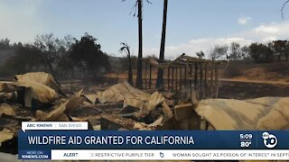 Wildfire aid granted to California