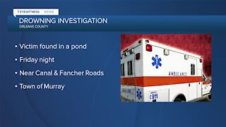 Sheriff's Office investigating suspected accidental drowning in Orleans County