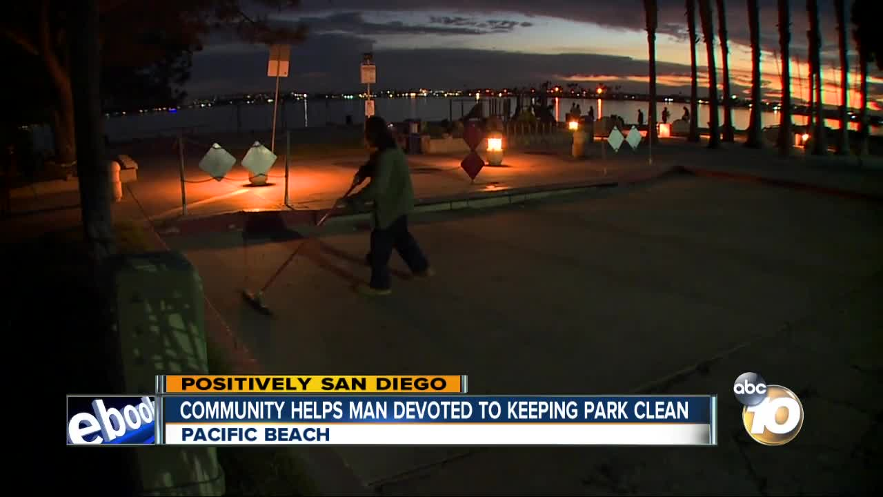 Community helps man devoted to keeping park clean