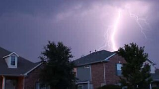 Creepy: House struck by lightning in the US