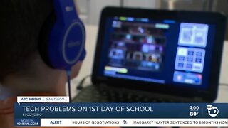 Tech problems on 1st day of school