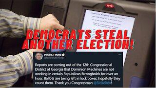 "STOLEN ELECTION! Dominion Voting Machines ""Go Down"" In Georgia Republican Precincts."