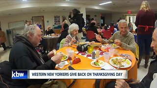 Western New Yorkers give back on Thanksgiving Day
