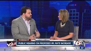 Public hearing Monday night on proposed IPL rate increase
