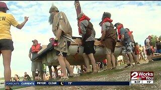 Tulsa's Great Raft Race down the Arkansas River