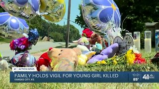 Family holds vigil for young girl killed
