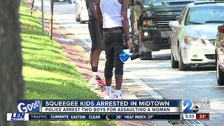 Squeegee kids arrested on assault charges
