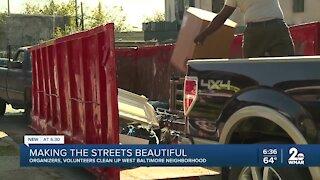 Making the streets beautiful, organizers, volunteers clean up West Baltimore neighborhood