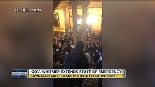 Gov. Whitmer extends state of emergency as armed protestors enter capitol