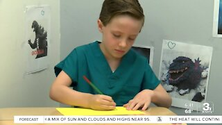 Positively the Heartland: 6-year-old helps put smiles on patient's faces
