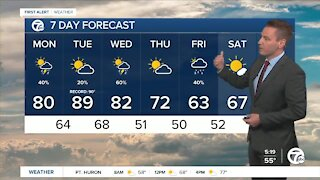 Metro Detroit Forecast: A few afternoon storms after a cool morning