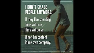 I don't chase people anymore [GMG Originals]