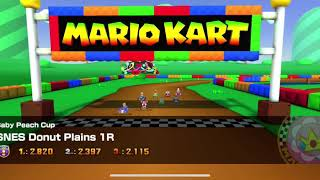 Mario Kart Tour - Super Nintendo Donut Plains 1R Gameplay
