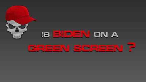 is Biden on a Green Screen?