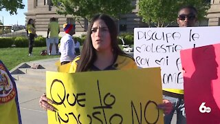 Local demonstration held to raise awareness about the protests in Colombia